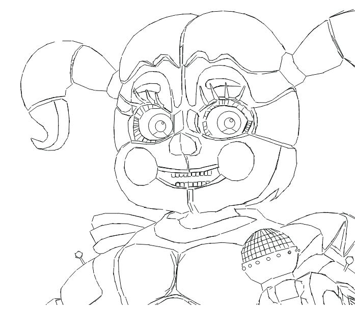 697x610 Circus Coloring Pages Circus Baby Coloring Page