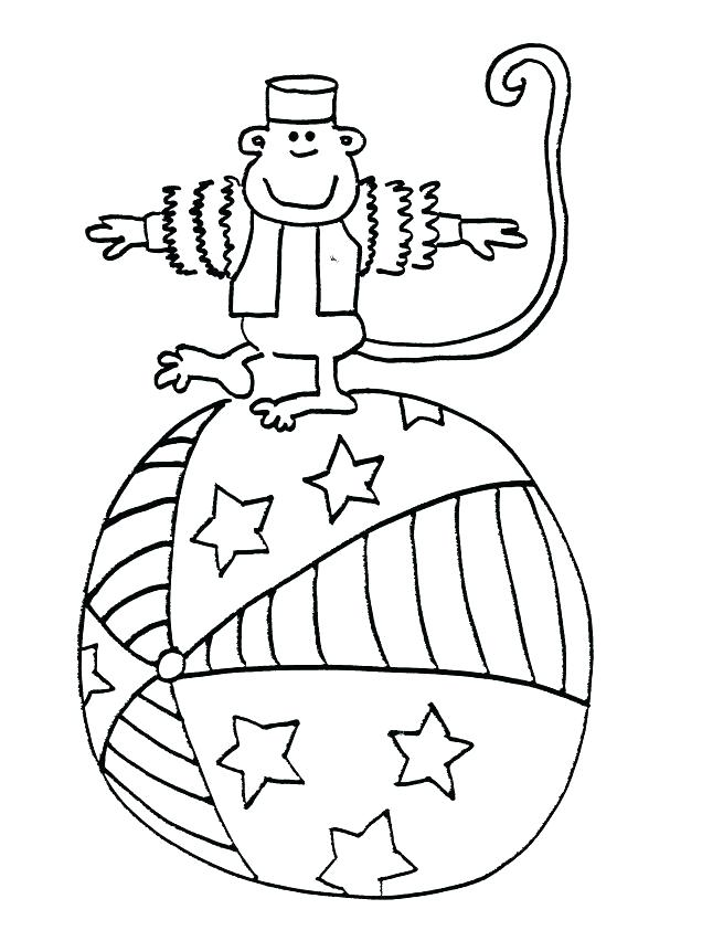 636x852 Circus Tent Coloring Pages Printable Free Themed Page Animal Clown