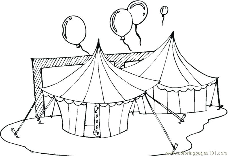 794x544 Circus Tents Coloring Page Or Circus Tents Coloring Page Circus