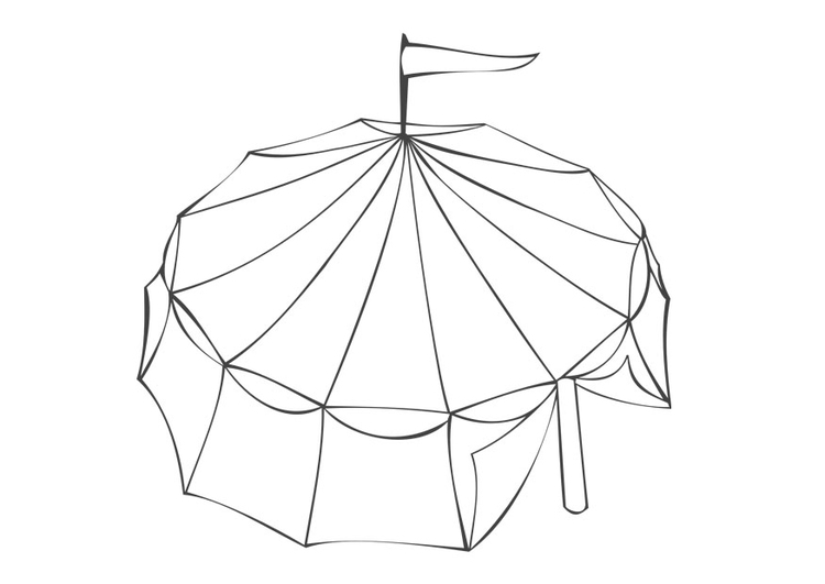 750x531 Coloring Page Circus Tent