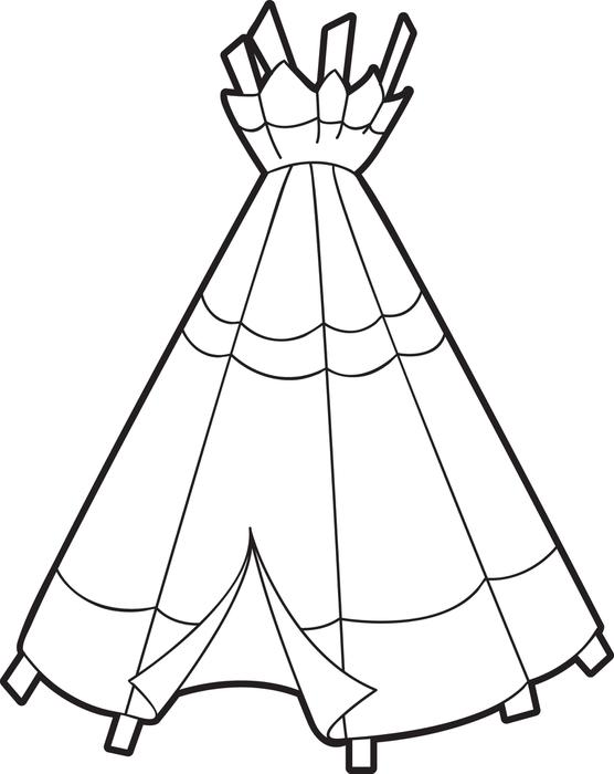 556x700 Free Printable Teepee Coloring Page For Kids Thanksgiving, Free