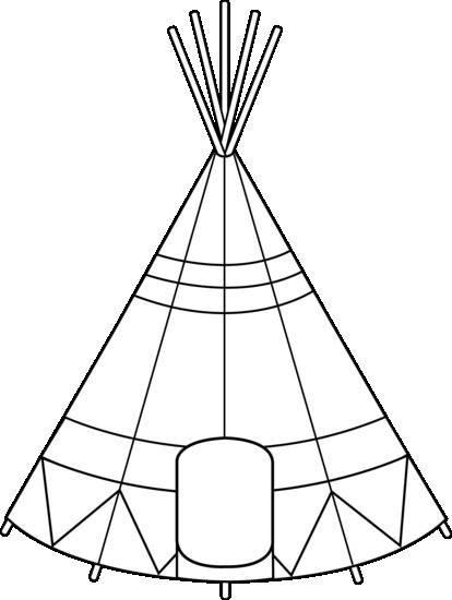 414x550 Teepee Tent Coloring Page Free Clip Art For Kids