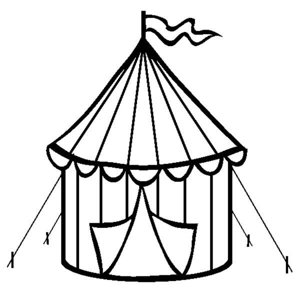 600x611 Tent Coloring Pages