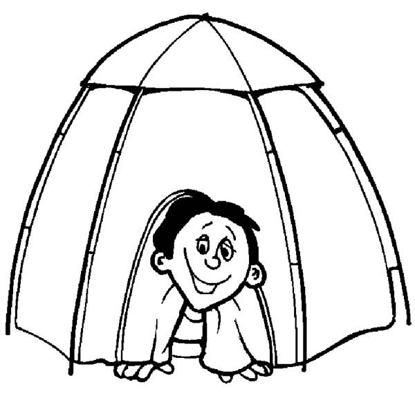600x585 Tent Coloring Pages Free
