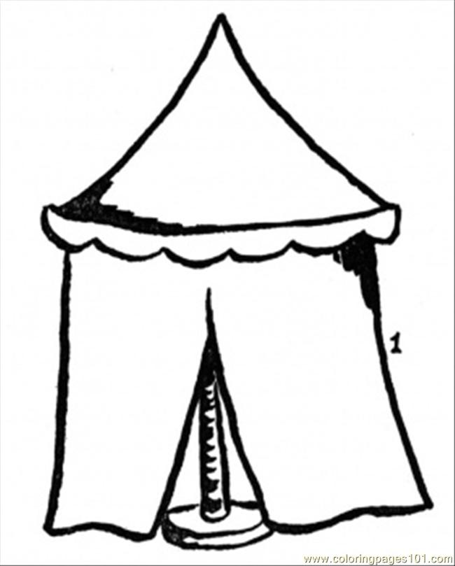 650x809 Tent Number Coloring Page