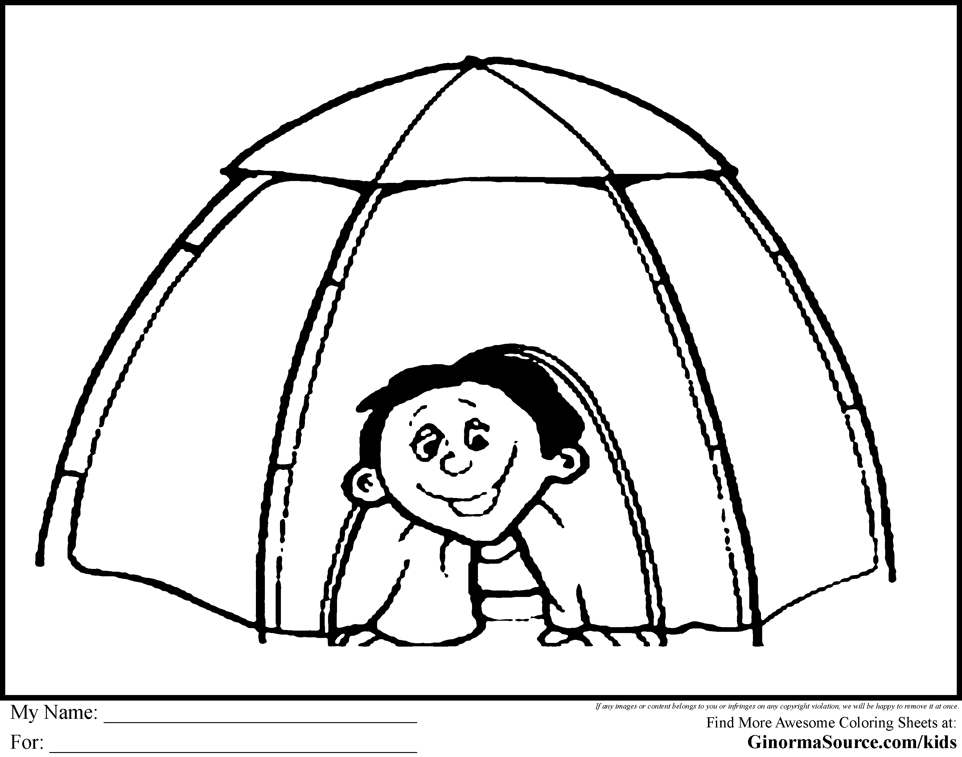 3120x2455 Bargain Tent Coloring Page Camping Pages Everest Vbs