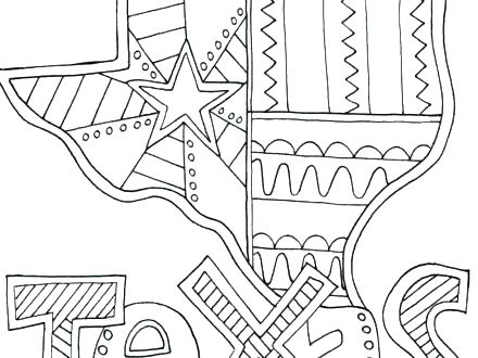 440x330 Texas Coloring Pages Flag Coloring Page With Best History Images