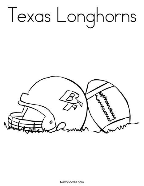 468x605 Texas Longhorns Coloring Page