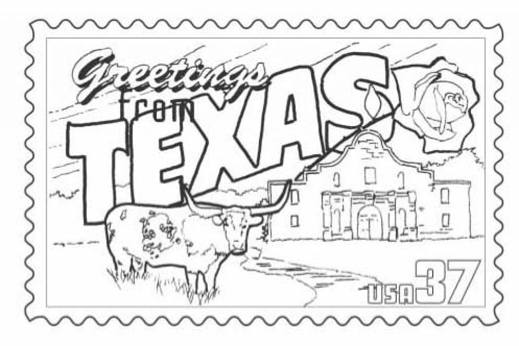 1024x684 Texas Coloring Pages The Incredible Texas Symbols Coloring Pages