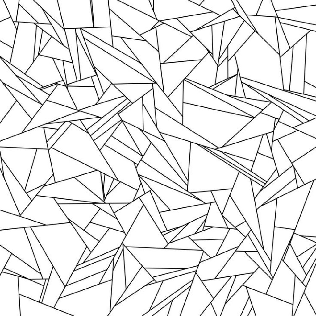 1024x1024 Broken Glass Tessellation Coloring Page Free Printable For Adults