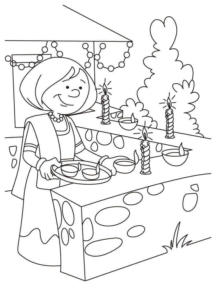 756x990 Thailand Colouring Pages Diwali Coloring Pages Animated Diwali