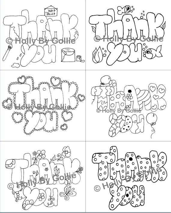 Thank You Card Coloring Page At Getdrawings Com Free For Personal