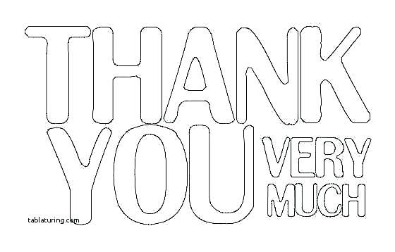 560x358 Thank You Card Coloring Page Thank You Card Coloring Page Print