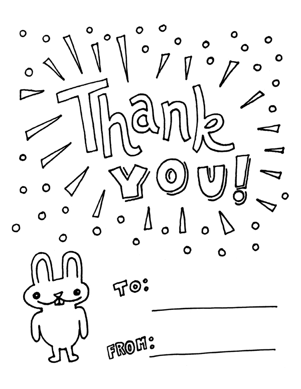 Thank You Card Coloring Page at GetDrawings | Free download