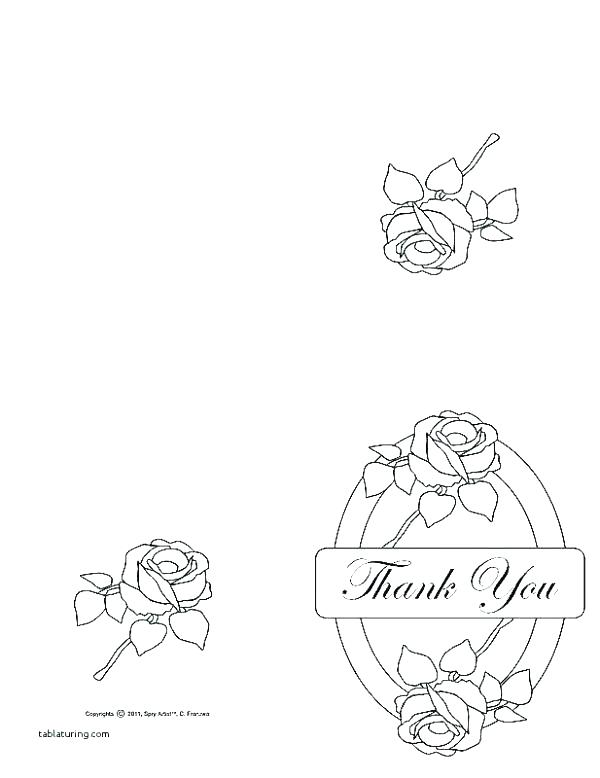 600x778 Coloring Thank You Cards Thank You Card Coloring Page Thank You