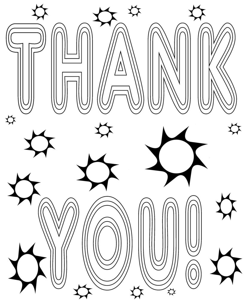 819x1024 Thank You Coloring Page Teaching Appreciation Coloring
