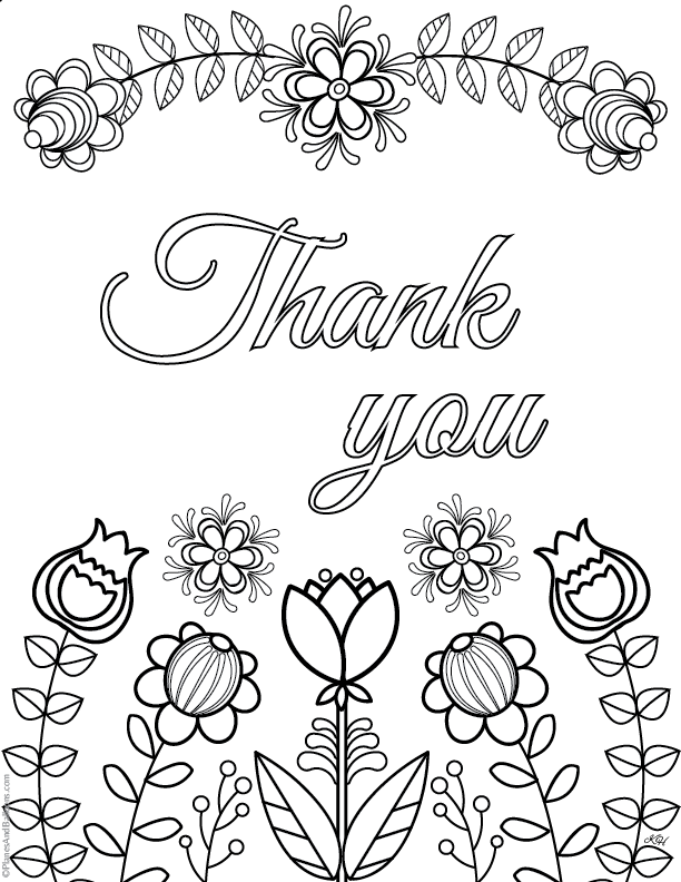 612x792 Thank You Coloring Pages Express Gratitude In A Creative Original Way