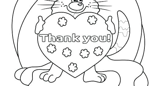 500x280 Thank You Coloring Pages Printable