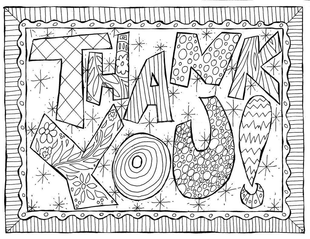 1024x791 Coloring Pages Of Thank You Cards