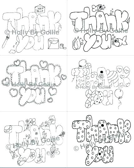 430x536 Thank You Coloring Pages Thank You Coloring Page Thank You