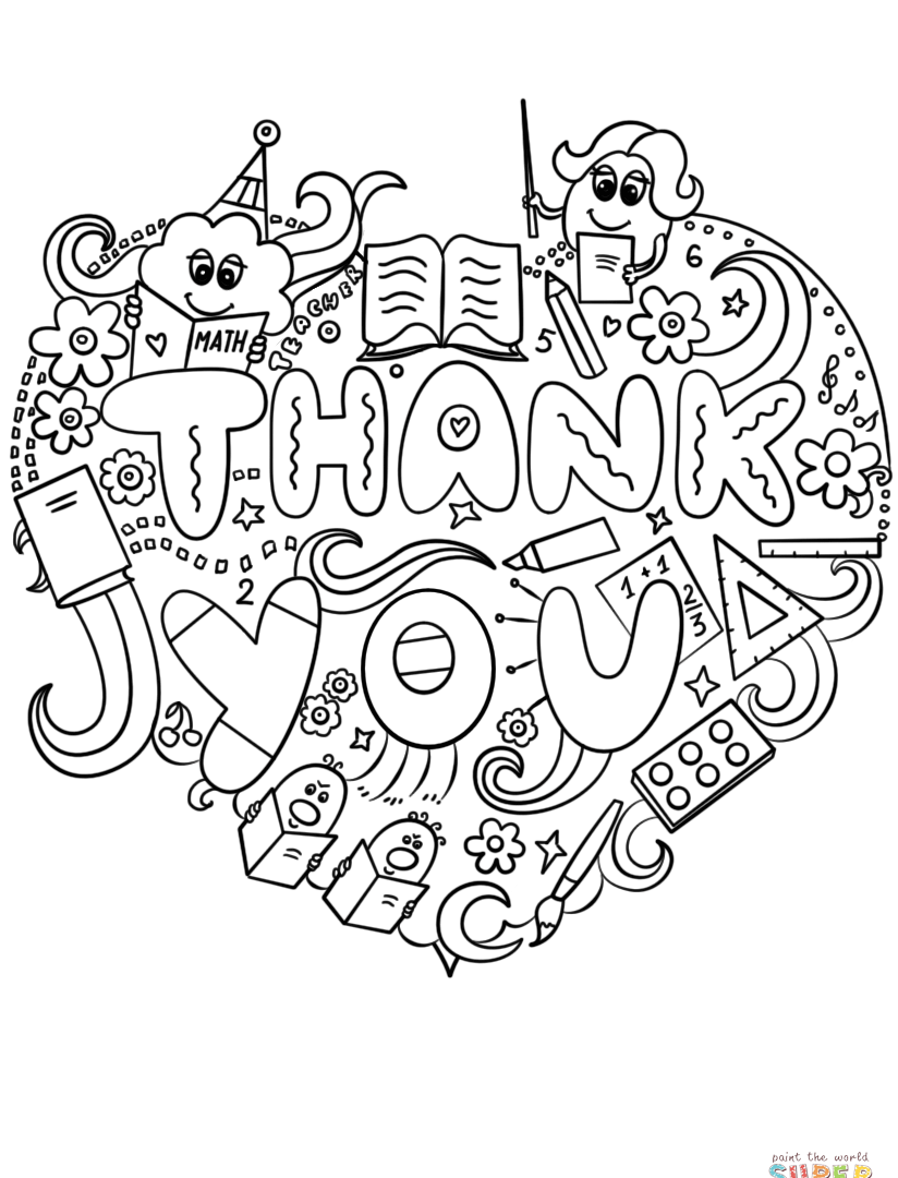 Thank You Coloring Pages For Kids at GetDrawings   Free ...