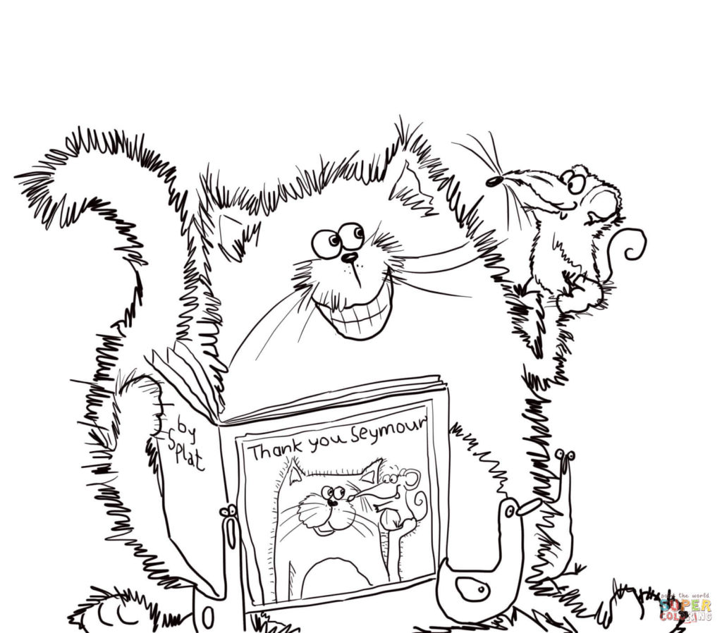 1024x898 Splat The Cat Says Thank You Coloring Page Free Printable
