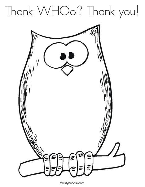 468x605 Thank Whoo Thank You Coloring Page