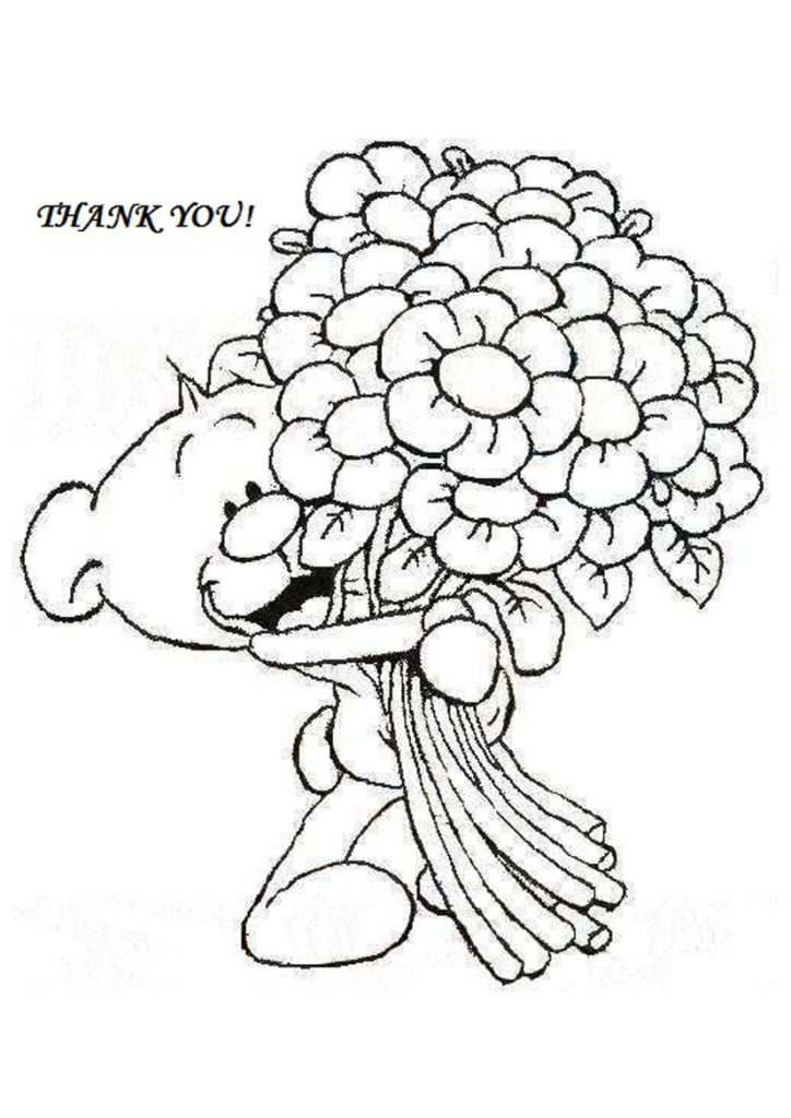 724x1024 Thank You Cards Coloring Pages Thank You