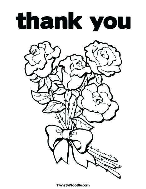 468x605 Thank You Coloring Page Thank You Teacher Coloring Pages Thank You