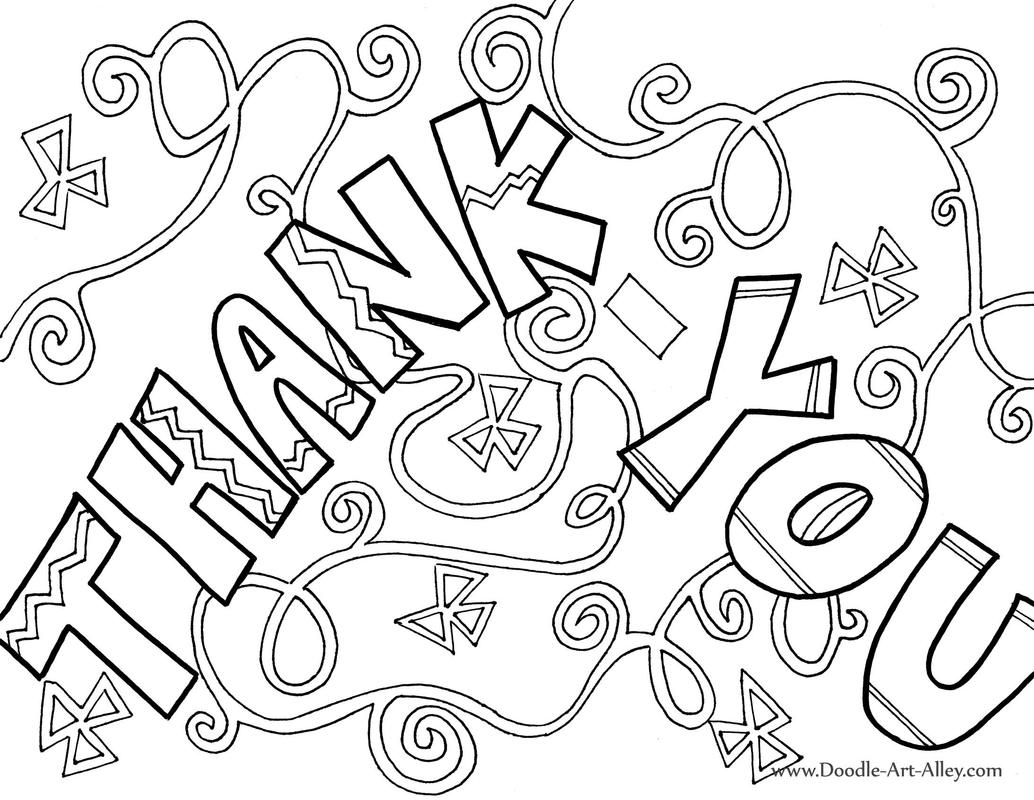 1034x800 Thank You Coloring Pages Free