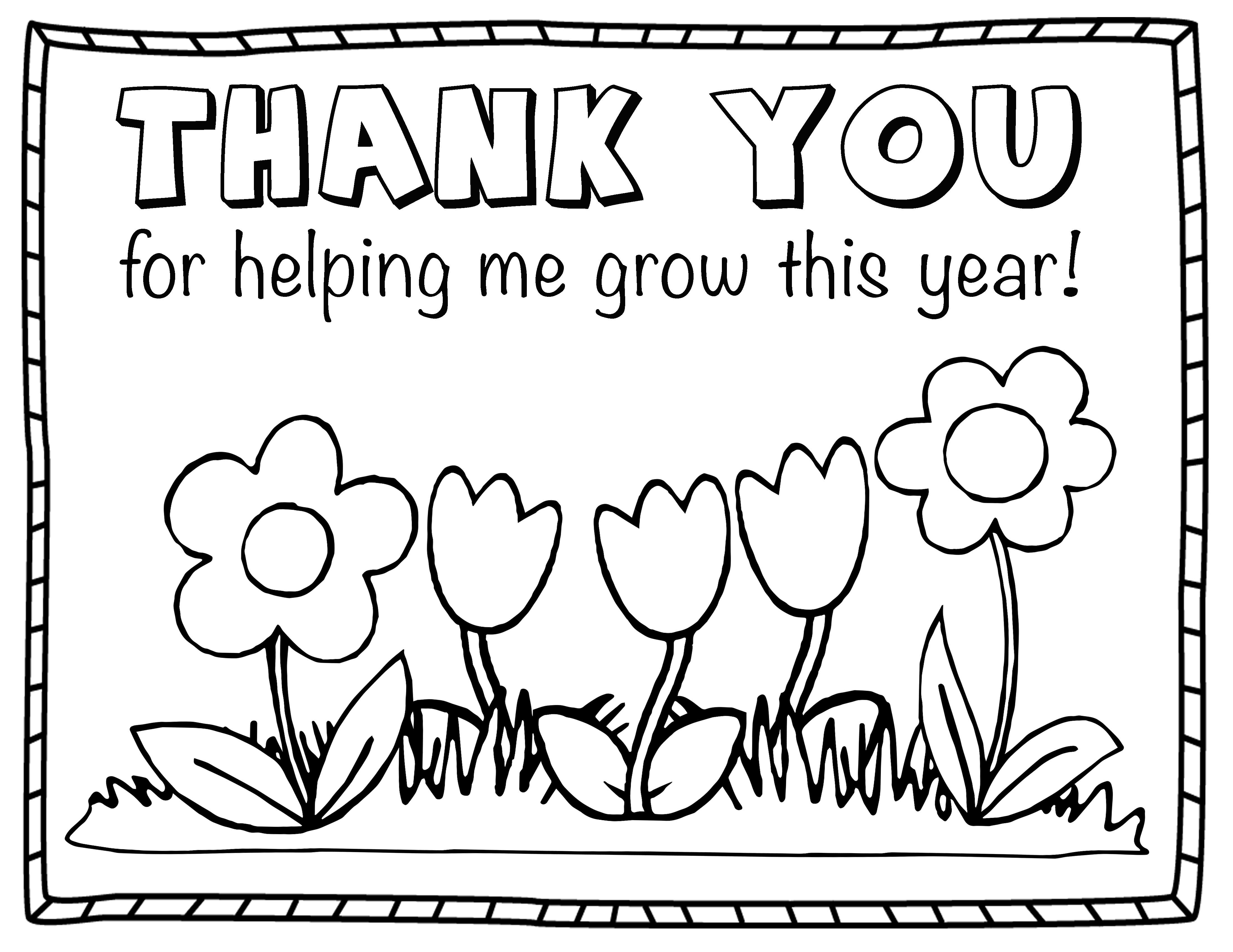 4400x3400 Thank You Coloring Pages For Kids Collection