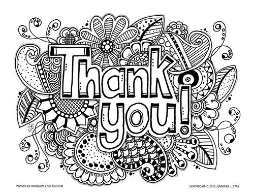 500x386 Free Thank You Coloring Page Adult Coloring, Free And Coloring Books