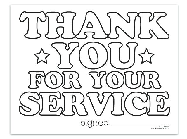 640x475 Coloring Pages That Say Thank You Thank You For Your Service Vale