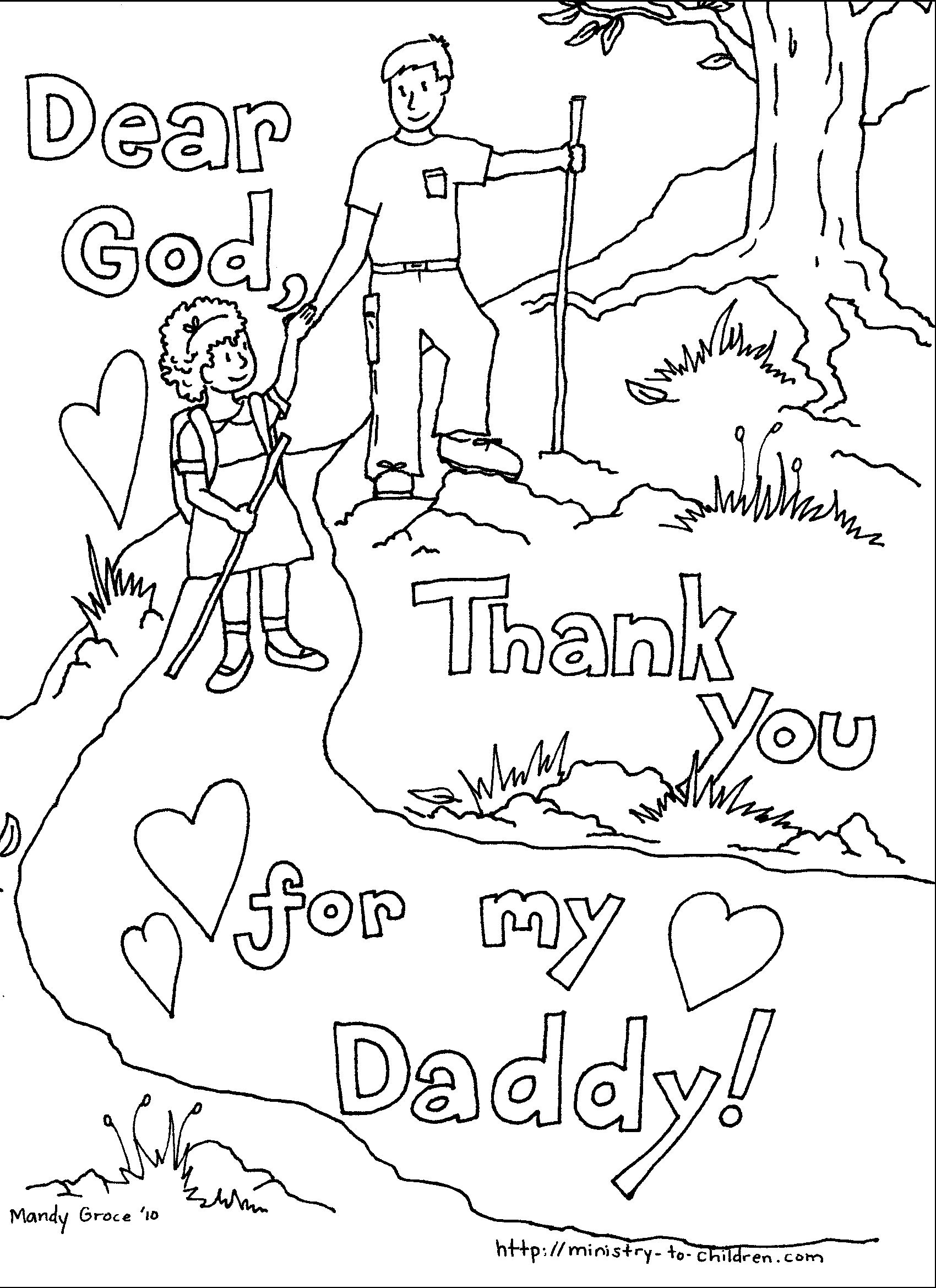 1700x2338 Father's Day Coloring Pages