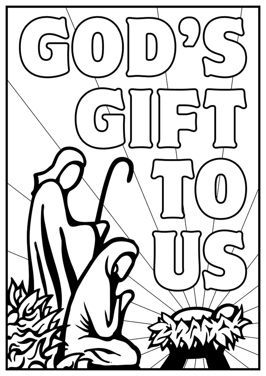 849x1200 Free Christian Coloring Pages For Young And Old Children Level