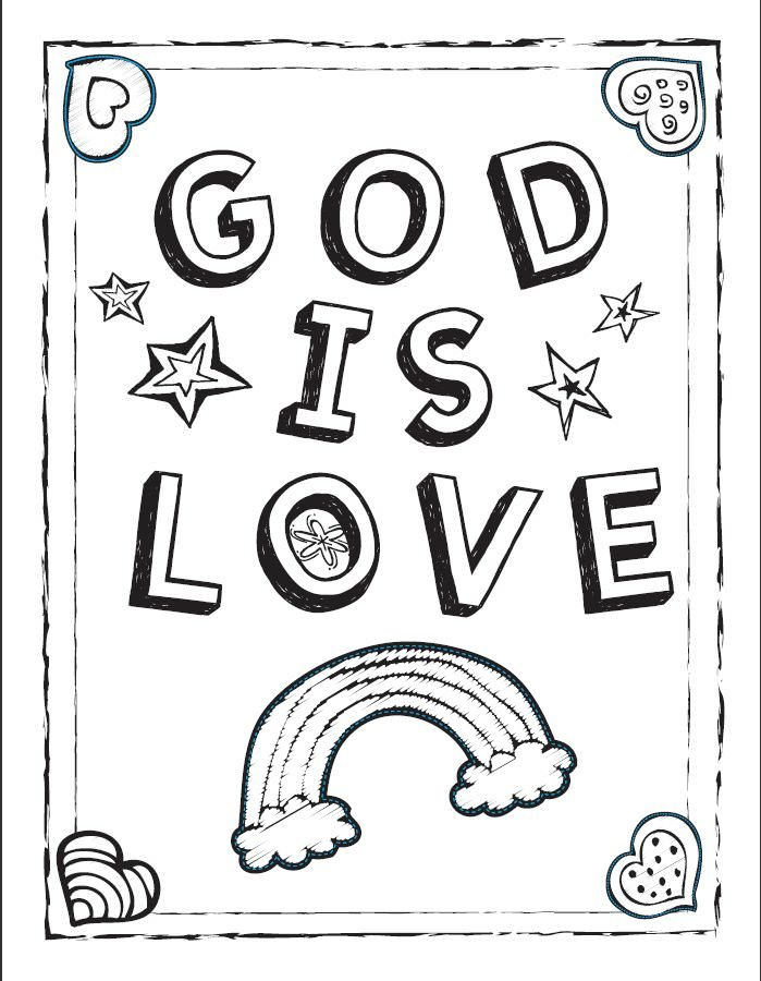 699x900 God Is Coloring Sheet!