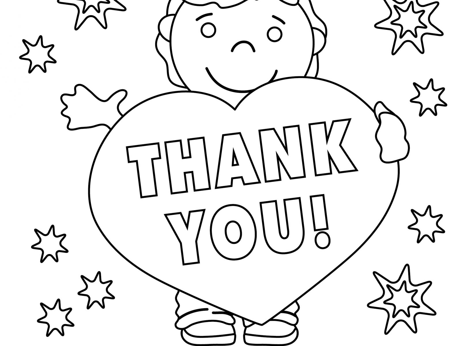 1600x1200 Thank You Coloring Pages Stunning Pdf For Veterans Teachers Free