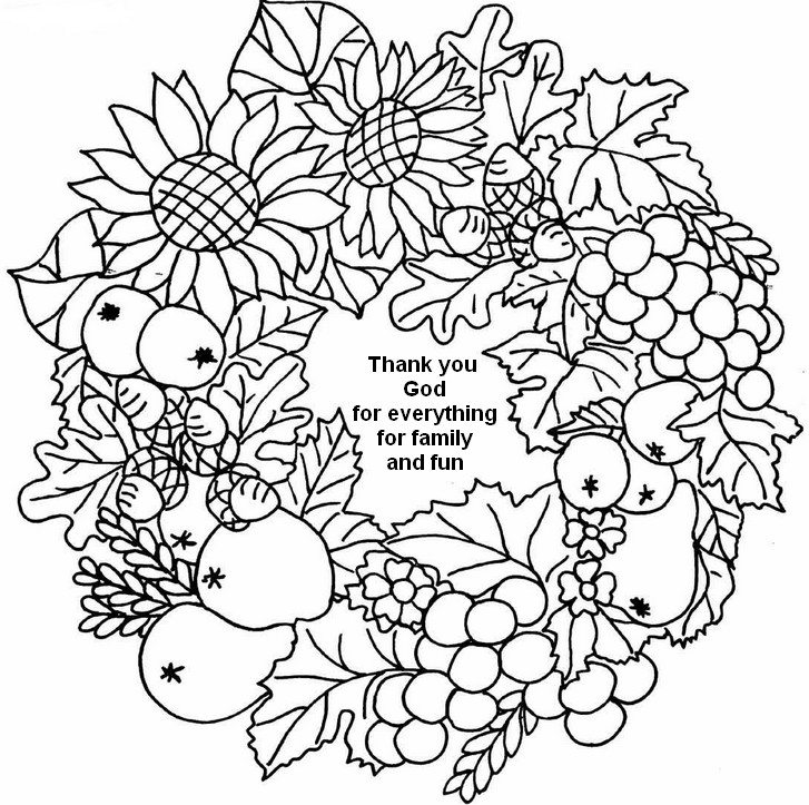 727x723 Adult Coloring Page Thanksgiving Thank You God Thank You God