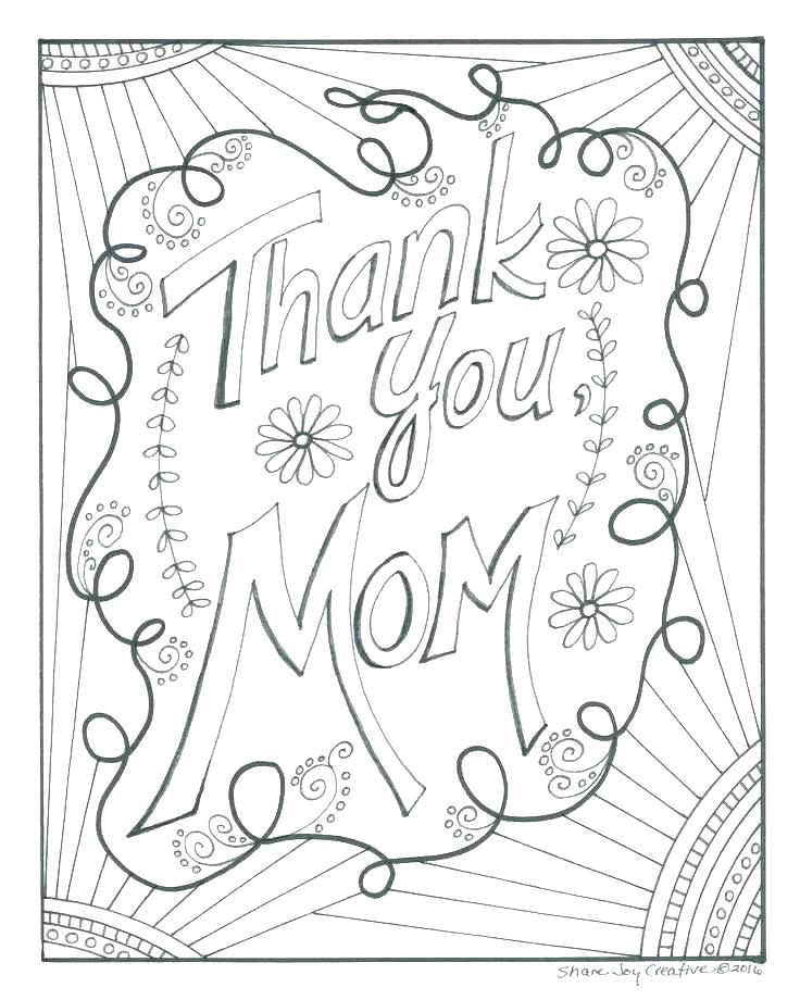 736x920 Thank You Mom Coloring Pages Free