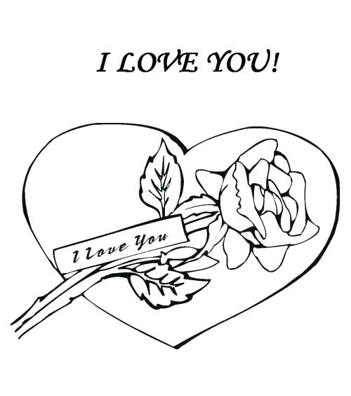 500x564 I Love You Mommy Coloring Pages