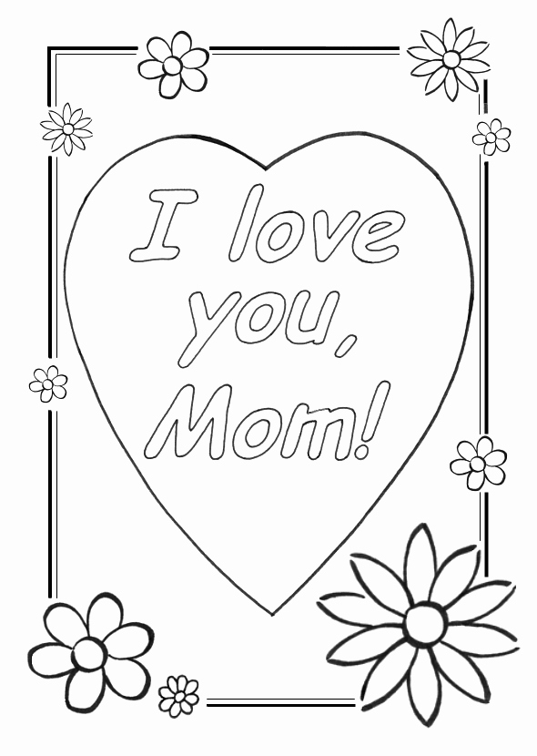 590x830 Cool Coloring Sheets Love You Mom Coloring Pages Thank You