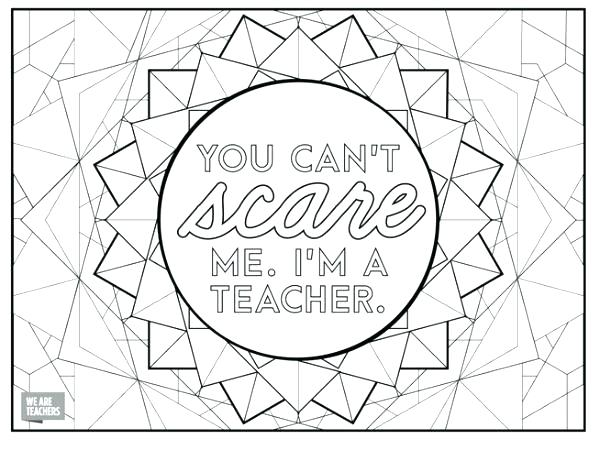 600x450 Teacher Coloring Pages Teacher Coloring Pages Because Teachers Are