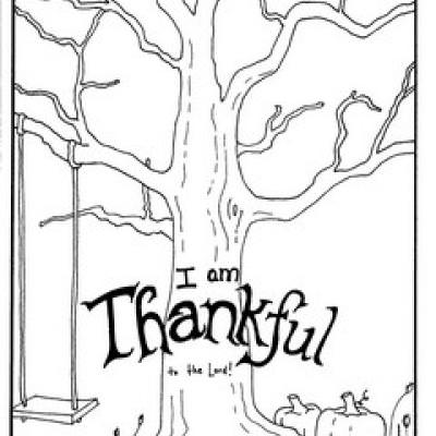 400x400 I Am Thankful Coloring Pages