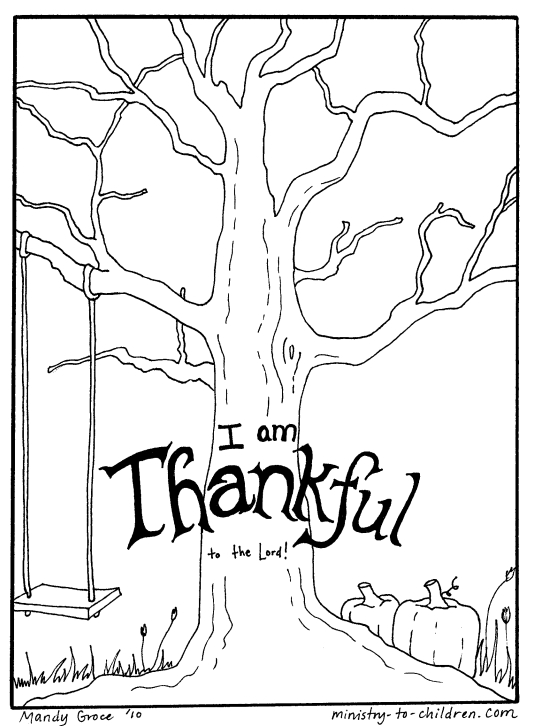 540x726 Being Thankful Coloring Pages