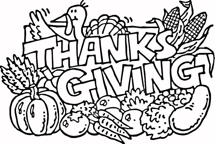 750x503 Give Thanks Coloring Page Clip Art Thanksgiving
