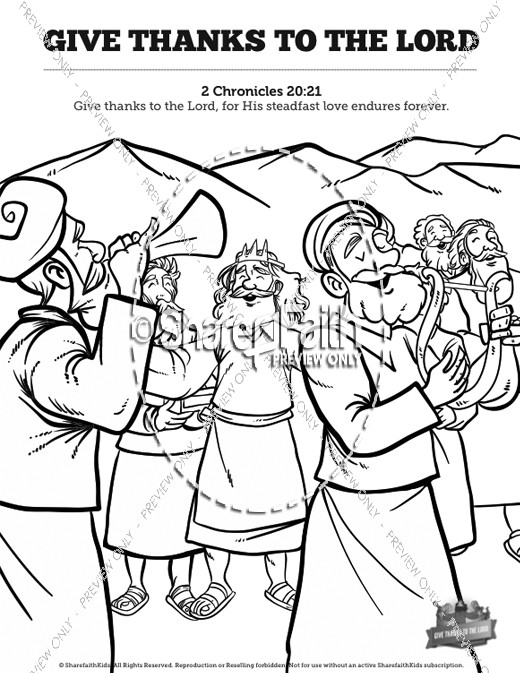 520x673 Chronicles Give Thanks To The Lord Sunday School Coloring