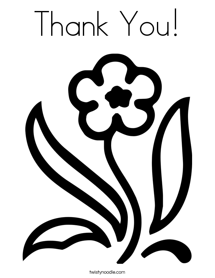685x886 Thank You Coloring Page