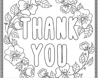 340x270 Thank You Coloring Pages Fabulous Thank You Coloring Pages