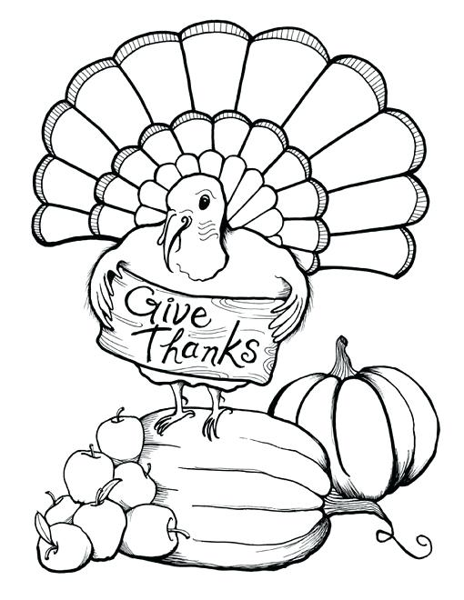 510x660 Give Thanks Coloring Page