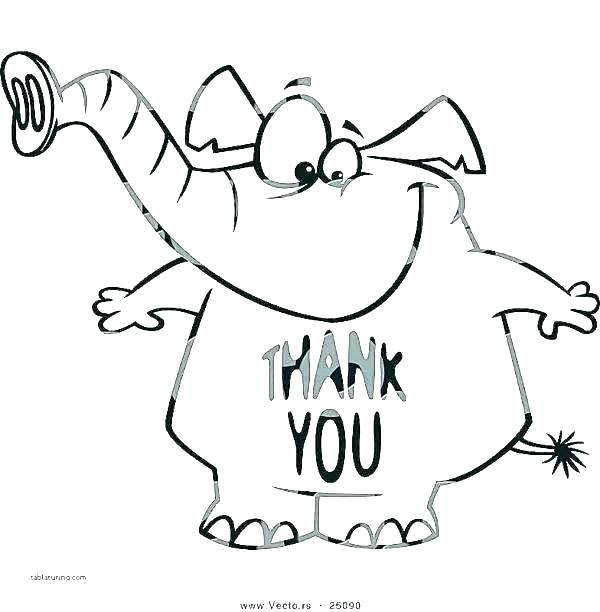 600x612 Thank You Card Coloring Page